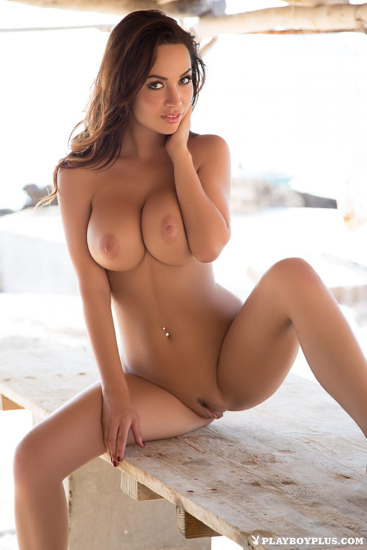 Brunette babe long hair