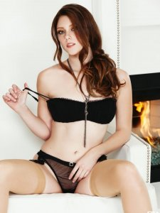 Shae Snow Black Lingerie