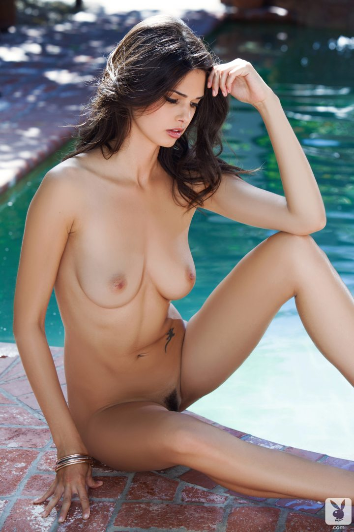 European Playboy Babe Zoi Takes A Dip In The Pool