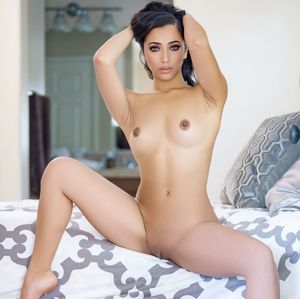 naked brunette scene girl